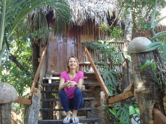 Aerolito Tulum: This is the entrance to the Treehouse room