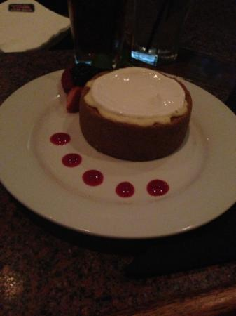 Ruth's Chris Steak House: cheesecake for dessert! It is a must have!