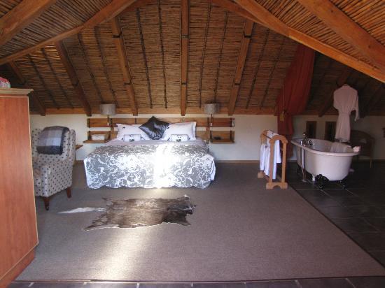 Aan de Oever Guesthouse : room view from entry door