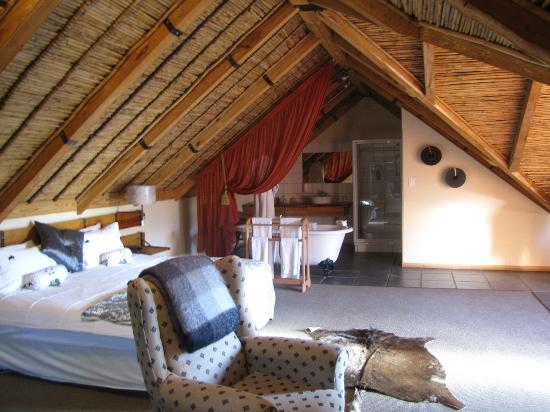 Aan de Oever Guesthouse: our thatched roof room