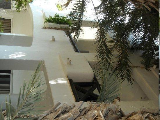 Odyssee Resort & Thalasso: vue du jardin vers notre balcon