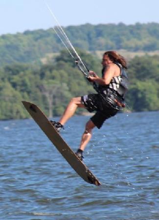Hearthside Dining Room: kiteboarding