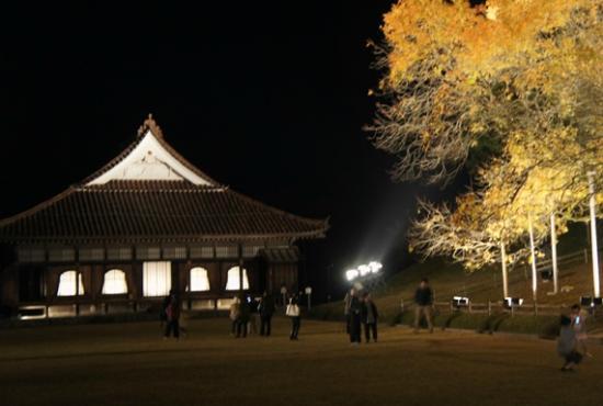 Bizen, Japón: 楷の木と講堂を入れて撮影
