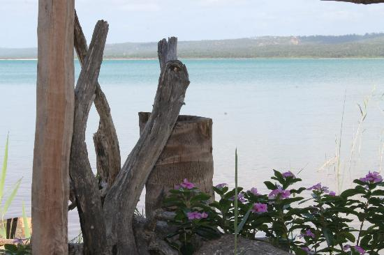 Quissico, Mozambique: at the lagoon