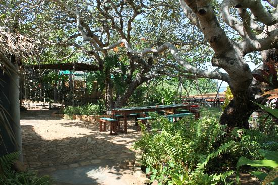 Quissico, Moçambique: the lodge chill area