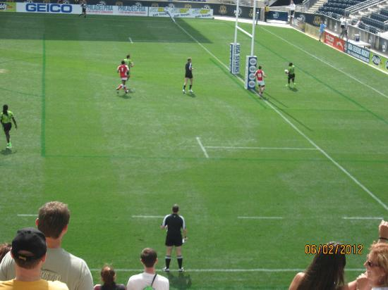 Talen Energy Stadium : Scoring a try at rugby 7's tourney at PPL Park