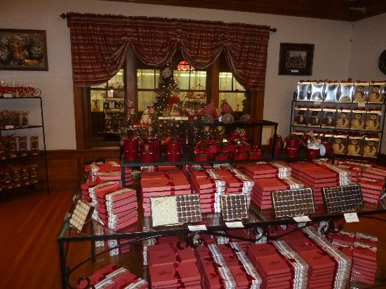 Hebert's Candy Mansion: so many chocolate options