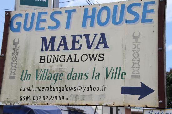 Maeva Bungalows: Entrée de l'Hôtel