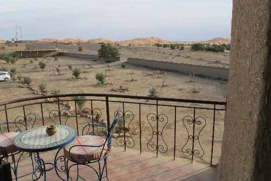 Ksar Bicha: View of dunes from balcony