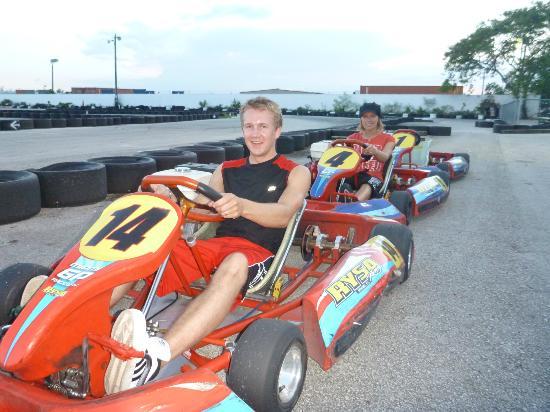 Miami GP Raceway: My boyfriend and I :)