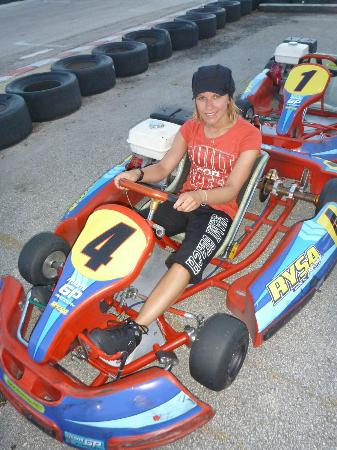 Miami GP Raceway: Me in the go cart :)