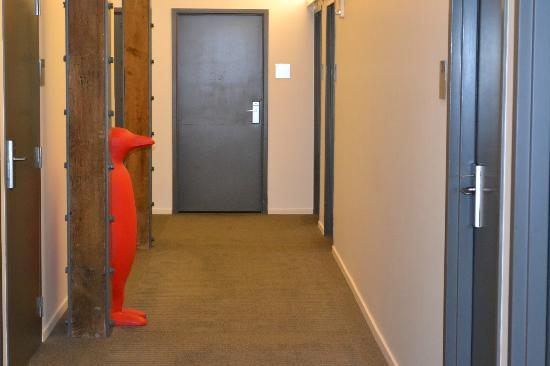 21c Museum Hotel Louisville: 21C Mascot waiting outside our room.