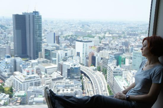 """Cerulean Tower Tokyu Hotel: Enjoying the view from our """"Sky View"""" room"""