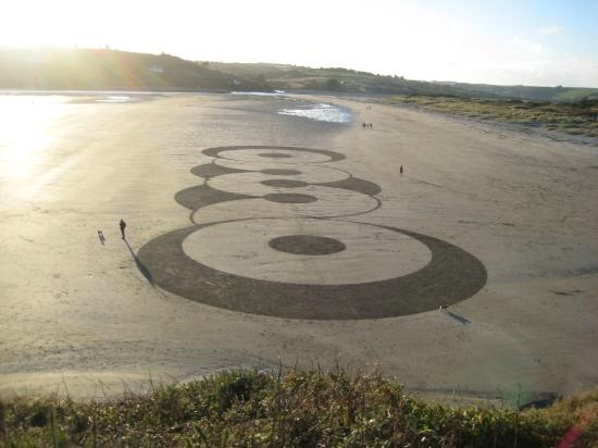 Inchydoney Island Lodge & Spa: Beach 1, with sand art