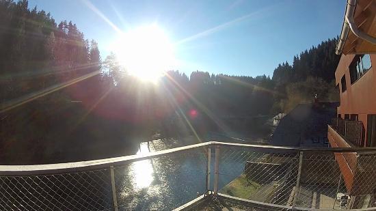 Neufelden, Áustria: Blick vom Balkon