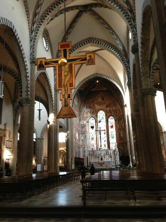Church of Santa Maria Novella: Apse view with Giotto's Crucifix, c. 1288