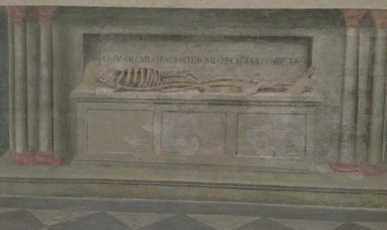 Church of Santa Maria Novella: your friend, the skelton, reminds you what's to come