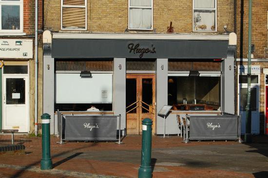 Outside Hugo's, Egham