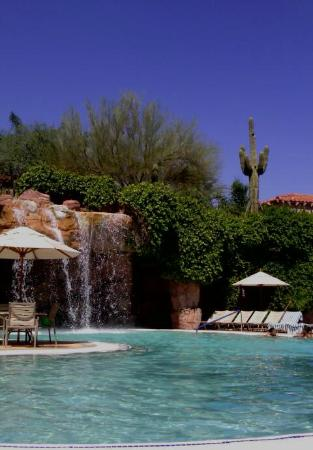 Sheraton Desert Oasis: Brilliant pool + waterfall