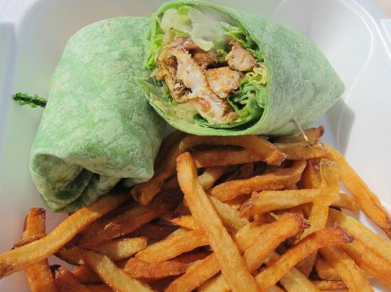Sunshine Suites Resort: Mahi caesar wrap from Eats Cafe
