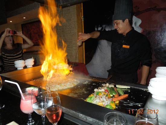 Secrets Capri Riviera Cancun: Our chef at Himitsu. Excellent