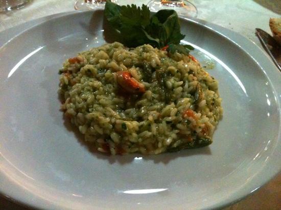 Sa Rocca Hotel & Resort: risotto con capesante, fagiolini e pesto