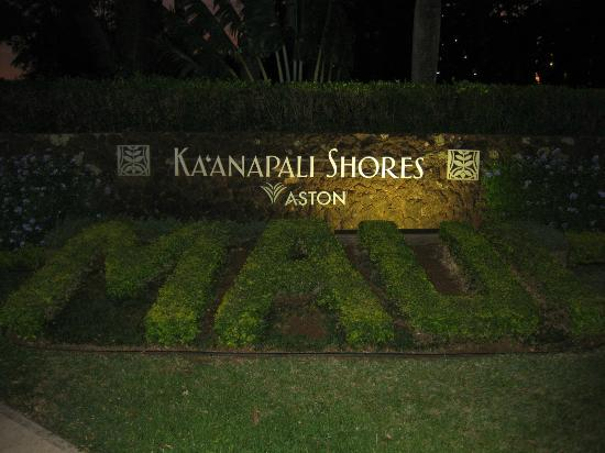 Aston Kaanapali Shores: entrance sign