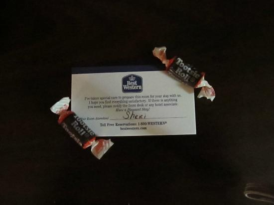 Best Western Plus First Coast Inn & Suites: Tootsie Rolls