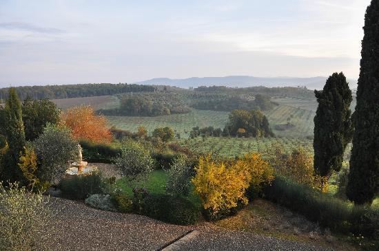 Castello del Nero Hotel & Spa: Ecco il panorama della mia stanza