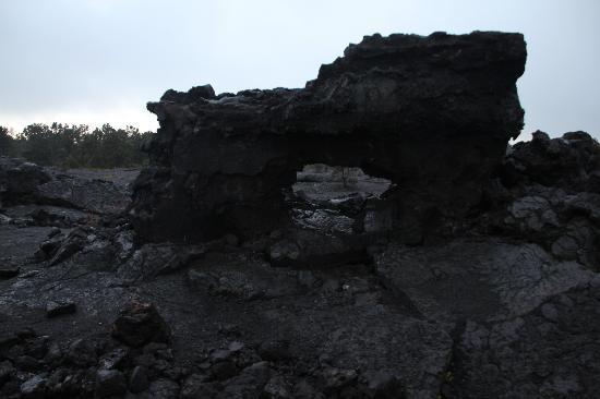 Kilauea Volcano: figure di lava, da percorso in auto