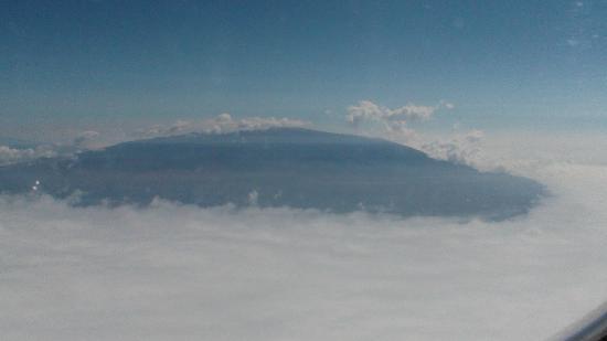 Kilauea Volcano: manua loa  vulcano    4.175 mslm , dall'aereo