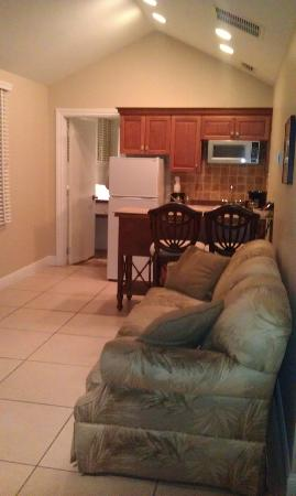 The Southernmost House: Kitchen Area & Living Room Area