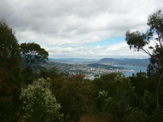 Mount Nelson Lookout: Bridge view on a good day (distant)