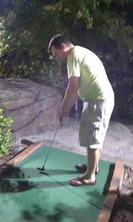 Runaway Bay Minature Golf: hole in one
