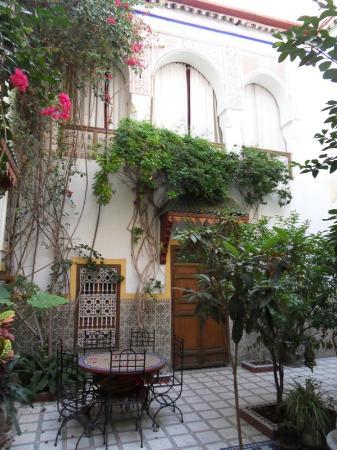 Riad Dalia: Vue du patio