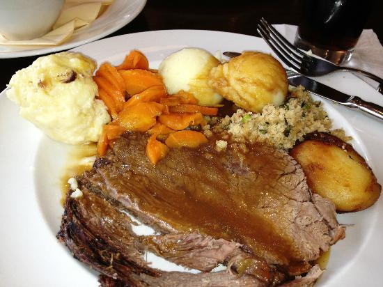 Jules Restaurant: Roast Beef With Sides