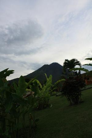 Los Lagos Hotel Spa & Resort: rare view of the volcano not shrouded in cloud from the lookout point beside our room