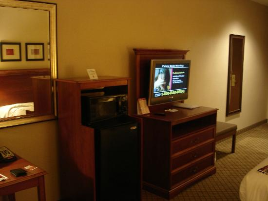 Holiday Inn Express Hampton South - Seabrook: Fridge & TV