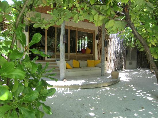 Six Senses Laamu: back of the beach villa