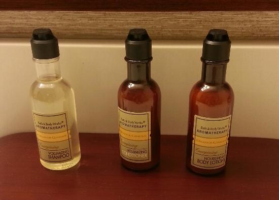 Chicago Marriott Naperville: shampoo selection