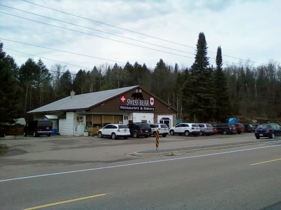 Swiss Bear Restaurant & Bakery: view from highway 28