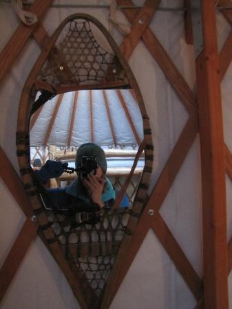 Tennessee Pass Sleep Yurts : Creative way to hang a mirror