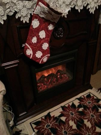 "The Marmalade Cat Bed & Breakfast: ""Fireplace"" in Rose room"