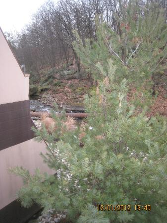The Woodlands Inn: stream side