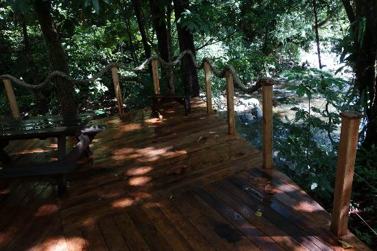 Mermaid's Secret - Riverside Retreat: The deck of the bar overlooking the river