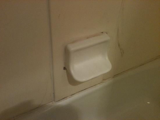 Sandston Inn : Soap disk in bathroom at check-in - Room should have been out of service