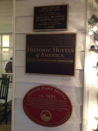 The Green Park Inn : Historic markers