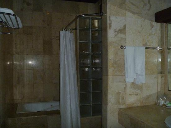 Sari Bunga Hotel: Big bathroom with separate bath/shower