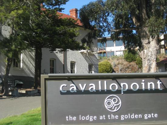 Cavallo Point: Just a view of the sign near the registration office