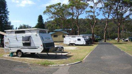 NRMA Ocean Beach Holiday Resort: Campervan sites